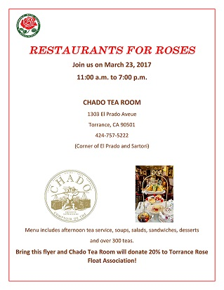 Chado Tea Room Torrance Menu